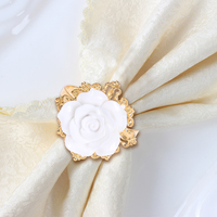 1 Set Resin Golden Plated Diamond Napkin Rings For Wedding Receptions Gifts For Holiday Dinner Business