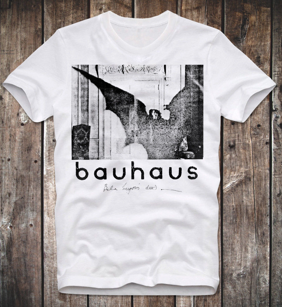 T SHIRT BAUHAUS THE CABINET OF DR. CALIGARI RETRO VINTAGE PUNK ROCK ELECTRONIC Cartoon Print Short Sleeve T Shirt Free Shipping