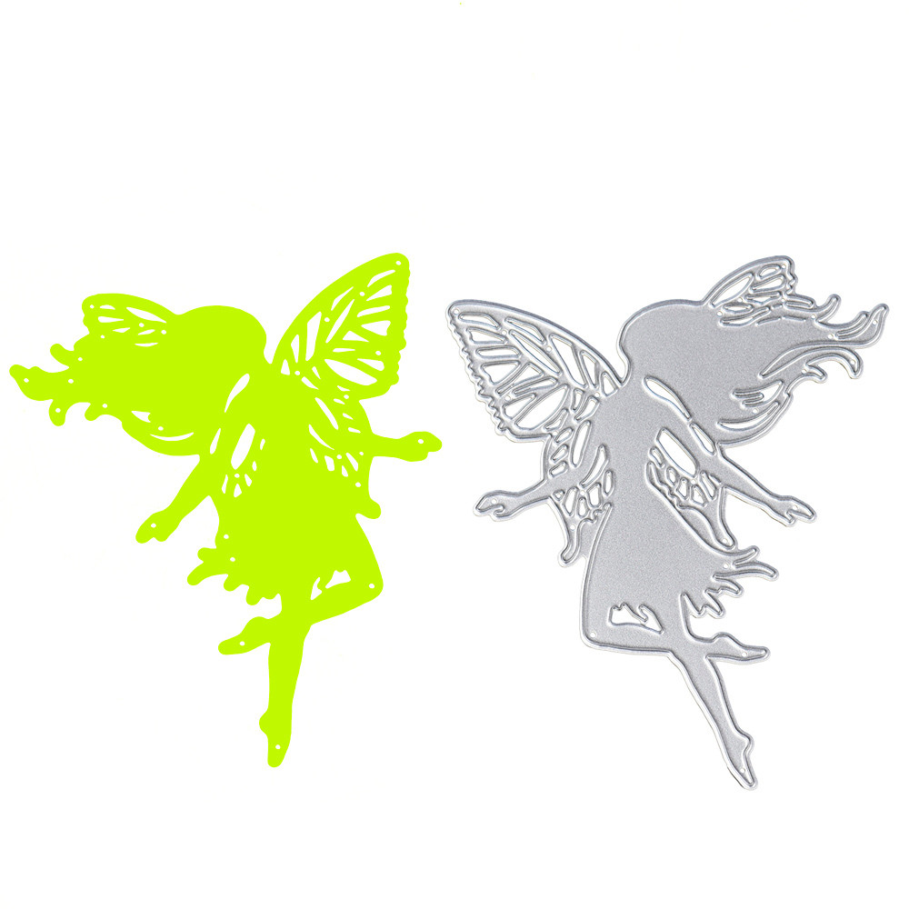 Butterfly wings girl metal die cuts stencils for DIY Scrapbooking Lover photo album decorative snijmal en embossing crafts #555