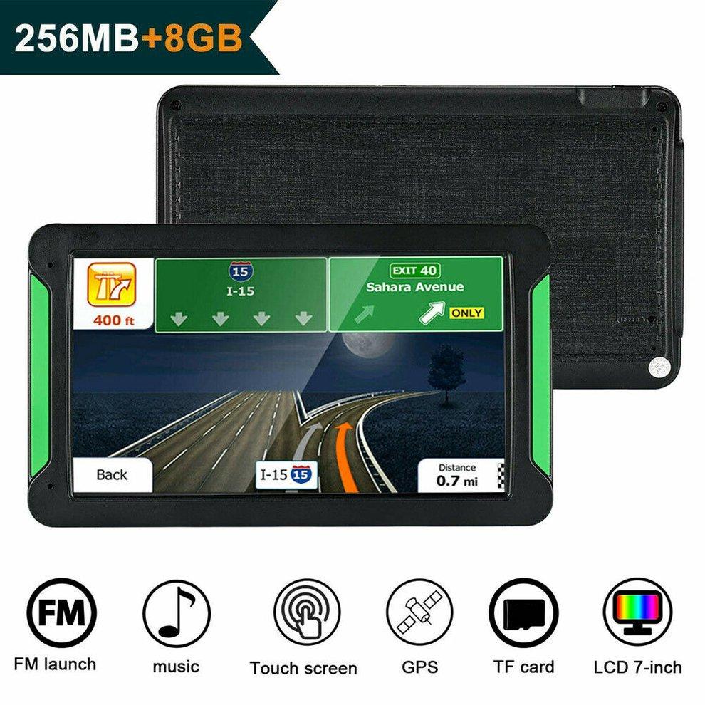 7 zoll Gps Navigator Portable Navigator 8 Gb-256 Mb Gps Navi Navigation Gerät Karten Lkw Auto Auto Touch bildschirm