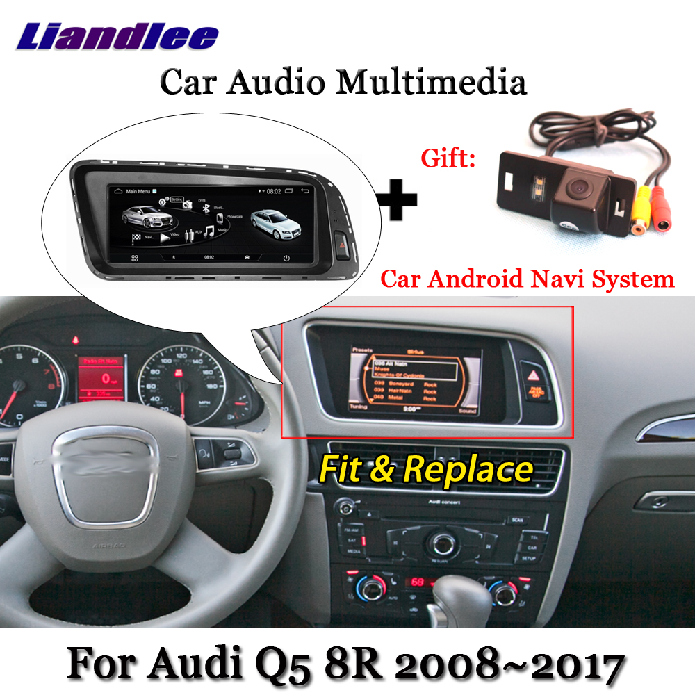 цена Liandlee Car Android System For Audi Q5 8R 2008~2017 Stereo Radio DVD TV Carplay Camera BT GPS Navi Navigation Screen Multimedia