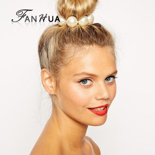 Fanhua Новое поступление Украшения для волос Мода Красочные Имитация жемчуг elascity Для женщин Интимные аксессуары для модных леди