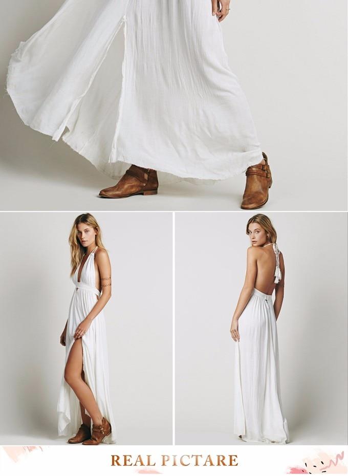 Jastie Stretchy Hollow Waist Deep V Neck Maxi Dresses Backless ... fc5d75325