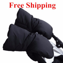 Baby Stroller Gloves Winter Pram Accessory Warm Fur Fleece Carriage Gloves Pushchair Hand Muff Baby Buggy Clutch Cart Muff Glove