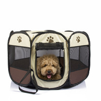 DAINCHOUL Foldable Octagonal Pet Tents Outdoor Trave Cat Dog Puppy Pets House Kennel Comfortable Warm Dog Bed