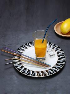 2/4 шт многоразовый металлический соломы эко-304 Нержавеющаясталь соломинка для коктейлей соломы оптом с щеткой для чистки вечерние аксессу...