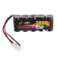 High Quality J Y 6V 3000mAh NiMH Rechargeable Lipo Battery Pack FUTABA Plug For Servo RC
