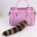 Real raccoon tail keychain fur Bag ornaments tag charm keyring raccoon fur tail key chain fur pendant  free shipping