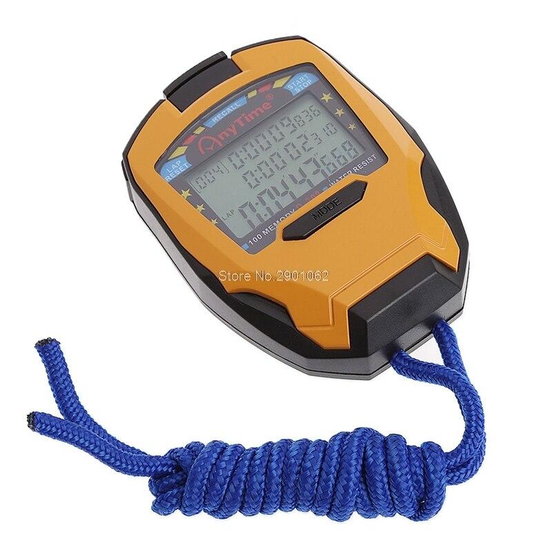 Freies Porto 3 Row100 Runde 1/1000 S Digitale Sport Zähler Timer Professionelle Athletisch Stoppuhr-b119 Werkzeuge Messung Und Analyse Instrumente