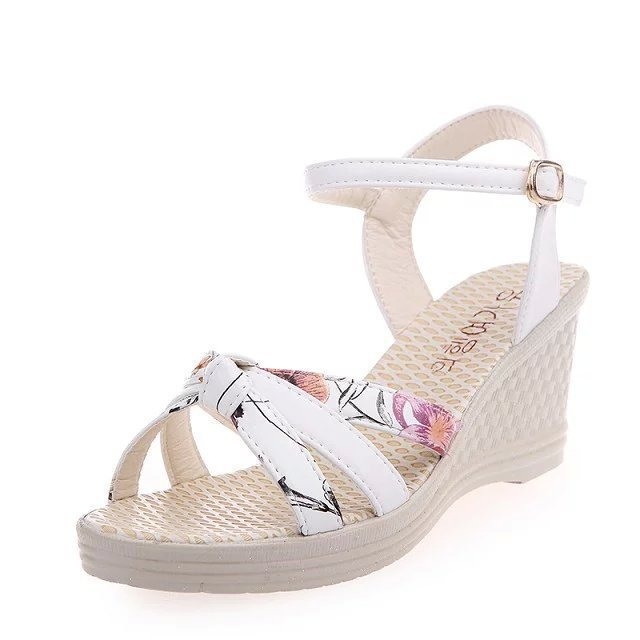 hot 2017 Women's shoes Summer style female sandals high platform wedges open toe casual sho - ZUXU Shoes store