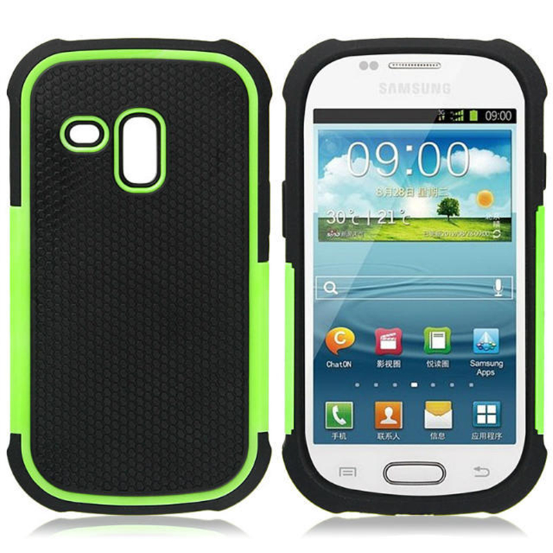 Ball Grain Plastic Amor <font><b>Case</b></font> For Samsung Galaxy S3 mini <font><b>i8190</b></font> Shockproof Back Cover image