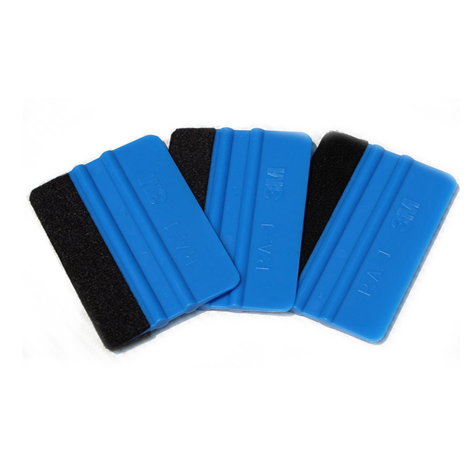 10*7.5cm 3 M Hand Applicator Squeegee Felt Edge Bump Cards Bondo Squeegee With Felt For Car Wrapping PA 1F Whole Sale-in Car Stickers from Automobiles & Motorcycles