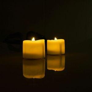 Image 5 - 24 pcs Battery operated LED Candle tealight Flameless Nhấp Nháy lượn sóng Trà Ánh Sáng W/Hẹn Giờ 6 giờ Trên 18 giờ Off F/Đám Cưới Giáng Sinh Nhà