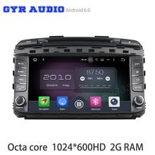 Android 6.0 octa Core GPS DVD del coche para KIA sorento 2015 2016 con 1024*600 2 GB RAM GPS radios Navi estéreo WiFi dvr