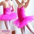 Día del niño barato Baby Girls cabritos del vestido del tutú de salón vestido del Ballet Dancewear 3 capas de la gasa de la correa vestidos Paddy 3T-11Y