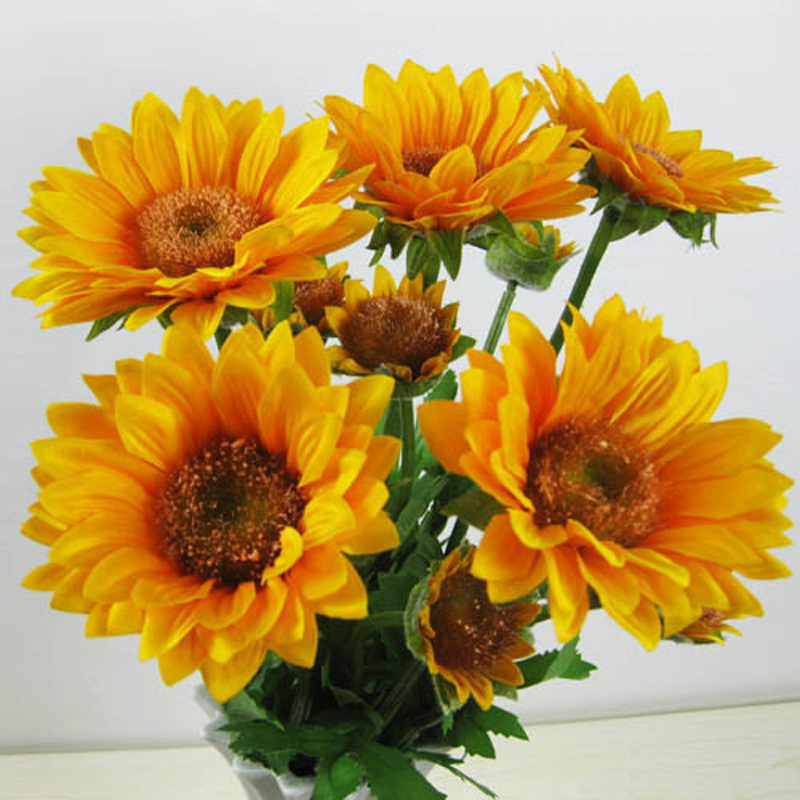 Diamond painting Flower Diy Diamond embroidery Cross stitch kit Vase of sunflowers 3D square Diamond Mosaic Full cover 40 40cm in Diamond Painting Cross Stitch from Home Garden