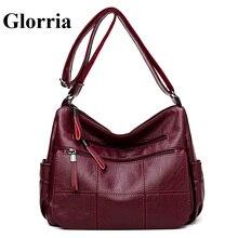 Glorria Sheepskin leather Bag Women Shoulder Messenger Bag L