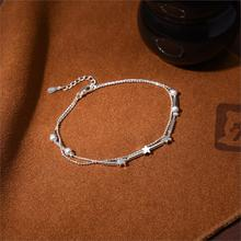 Beach Jewelry Silver Plated with Star Sahped Double Layer Anklets for Women Barefoot Sandals Summer Style