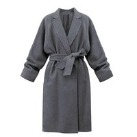 Fashion Women Cashmere Wool Coats Slim Autumn Winter Long Trench Coat Thicken Warm Trench Coat Plus
