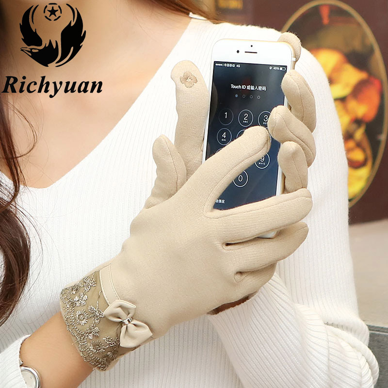 High Quality! Fashion Screen Gloves Ladies Womenss