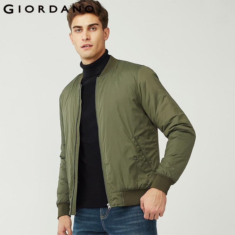 Erkek Kıyafeti'ten Ceketler'de Giordano Erkek Ceket Erkek Beyzbol Yaka Kapitone Zip Kapatma Ceket Erkekler Cepler Kış Aylarında Sıcak Tutmak Manteau Homme'da  Grup 1