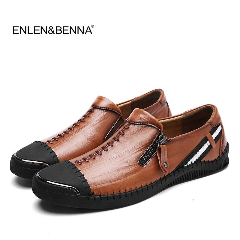 New arrival Mens Breathable Shoes High Quality Casual Shoes Genuine Leather Shoes Slip On Boat Shoes men Fashion Flats Loafers new arrival low price mens breathable high quality casual shoes suede canvas casual shoes slip on men fashion flats loafers