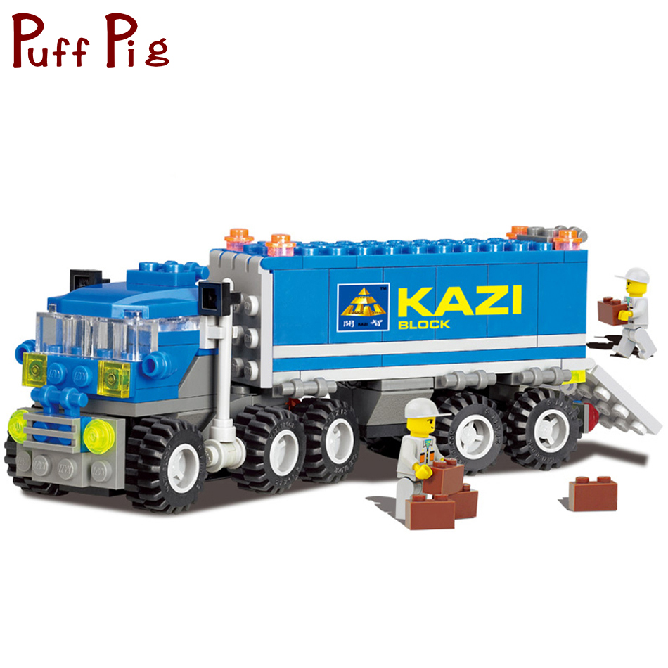 все цены на 163PCS Engineering Vehicles Dumper Truck Model Building Blocks Set Compatible Legoed City Construction DIY Bricks Toys For Kids онлайн