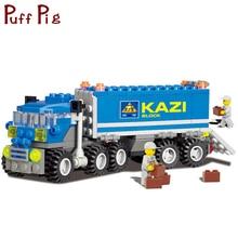 163 pcs Veículos de Engenharia Caminhão Basculante Modelo Building Blocks Set Compatível Legoed Cidade Construção Bricks DIY Brinquedos Para Crianças