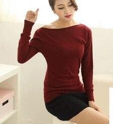 yeni kazak qadın yun kazak seksual pullover təsadüfi yaz payız - Qadın geyimi - Fotoqrafiya 4