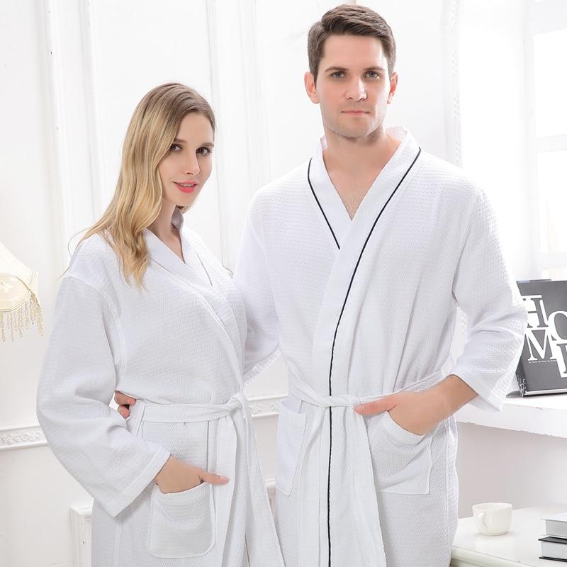 Women Bathrobe Cotton white night Gown pajamas Sexy Wedding BathRobe Long Sleeve lovers Kimono Robe Sexy Home Bathrobe summer