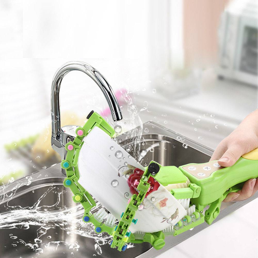home kitchen handheld automatic dish scrubber brush