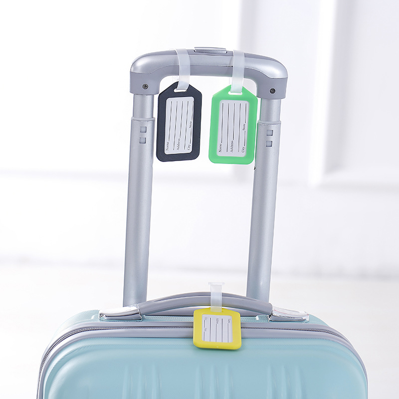 2019 Travel Accessories Plastic Luggage Tag Travel Suitcase Travel Bag Boarding Tag Label Name ID Tags Candy Color Wholesale