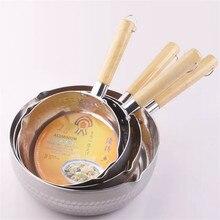 Диаметр 16,18, 20, 22, 24 см, Снежная сковорода, японская деревянная ручка, алюминиевая плита, вареная каша, дополнительное питание для газовых плит
