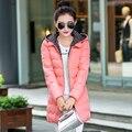 2016 novo casaco de inverno grosso acolchoado versão Coreana das mulheres longas seções de Slim casaco casacos
