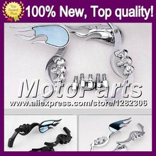 Ghost Skull Mirrors For KAWASAKI NINJA ER-6N 09-11 ER6N ER 6N ER 6 N 09 10 11 2009 2010 2011 Skeleton Rearview Side Mirror
