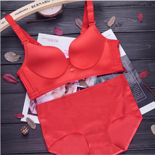 5 Colors A/B/C Cup Women Push Up Candy Color Modal Seamless Adjustable Wire Free Underwear Bra Set Intimates Lingerie 0123-2