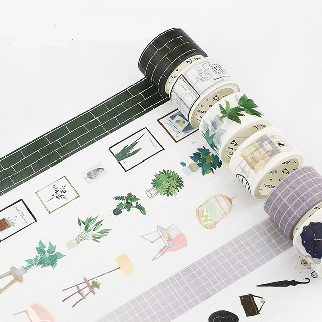 Nordic Style Plant Girls Boys Diy Scrapbooking Photo Album School Tools Kawaii Scrapbook Paper Washitape Stickers Tape
