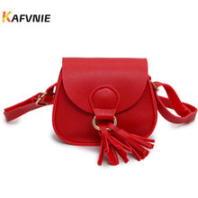 2018 Hot New Children's Handbag PU Cute Crossbody Mini High Quality Totes Children's Crossbody Red Lovely Princess Messenger(China)