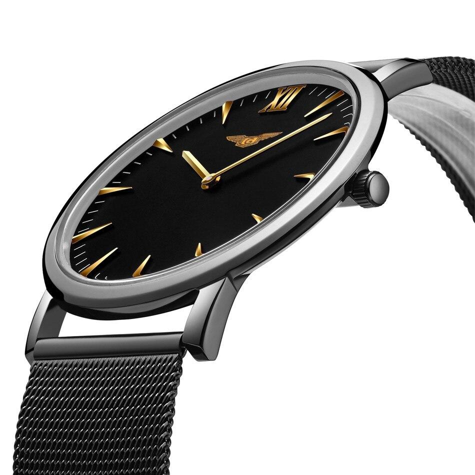 где купить GUANQIN Mens Watches Top Brand Luxury Men Ultra Thin Wristwatch Stainless steel Quartz Watch men relogio masculino Wristwatches по лучшей цене