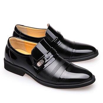 7b1fc2a690 2019 nuevos hombres zapatos de cuero Formal de los hombres de la moda  Zapatos casuales zapatos de venta zapatos de vestir para hombres zapatos de  boda ...