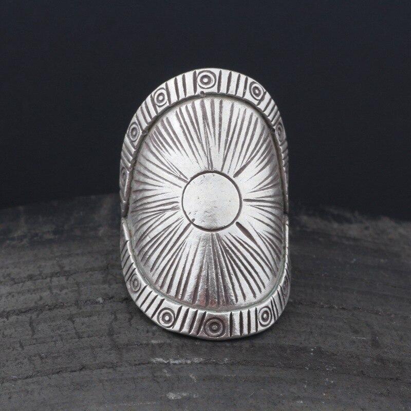 La réparation se réfère à la bague d'ouverture pour les femmes de la mode s925 argent pur reconstituant des manières antiques exagéré l'anneau