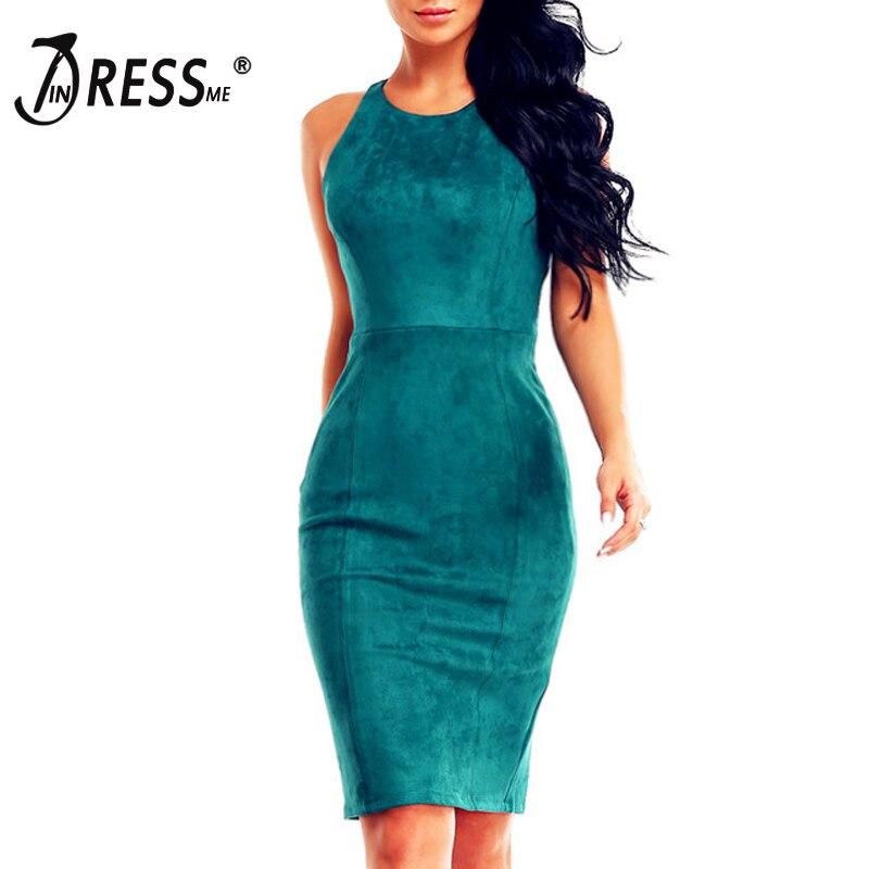 Indessme شحن مجاني 2017 جديد إمرأة الأخضر تمتد الغزال bodycon اللباس الجوف قص عارية الذراعين خمر اللباس