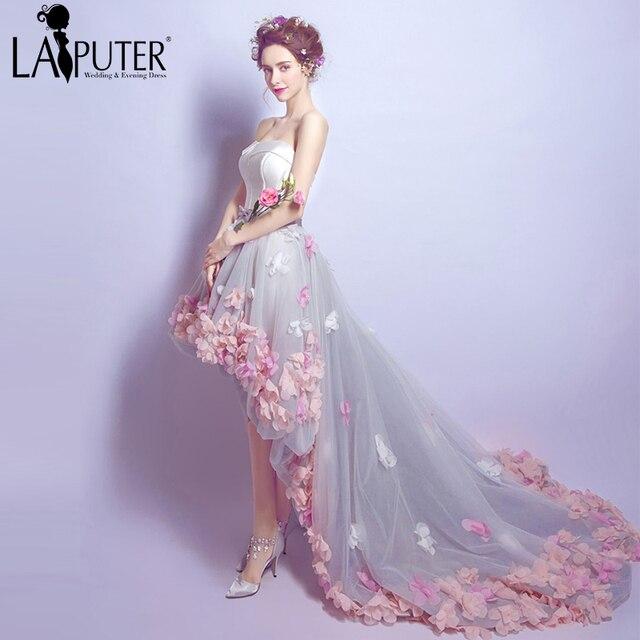 vestido de novia flores