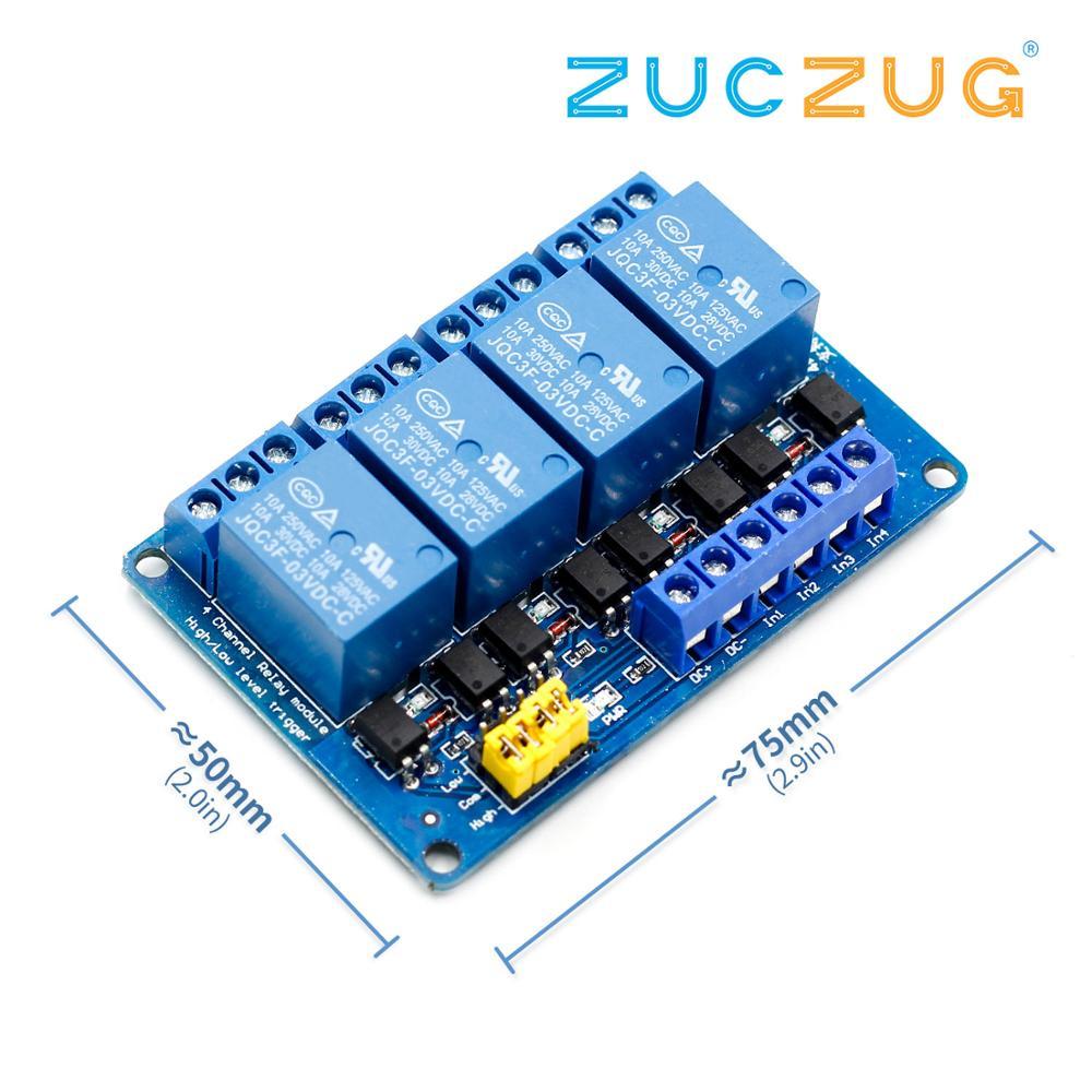 3.3V 5V 12V 24V 4 canaux Module relais haut et bas niveau déclencheur double optocoupleur Isolation relais Module