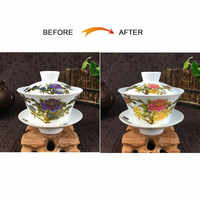 2019 New Arrival 230ml Chinese Hand Painted Tea Set Tureen Color Changing Pattern Gaiwan High Quality Kung Fu Tea Cup