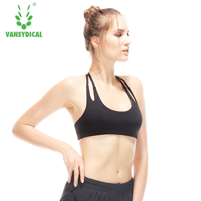 b843d9b75a Women Sexy Sports Bra Running Fitness Athletic Vest Popular Sport Bra  Hollow Out Yoga Top Push Up Underwear for Woman