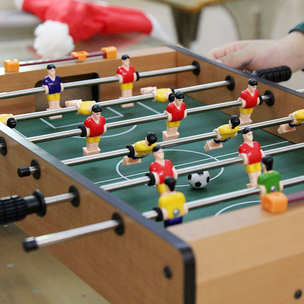 12 Wooden table football bar entertainment Soccer Table game table children home parent-child interaction game kid gifts hot sell desktop manual indoor football machine parent child sports interactive toys table ball game machine