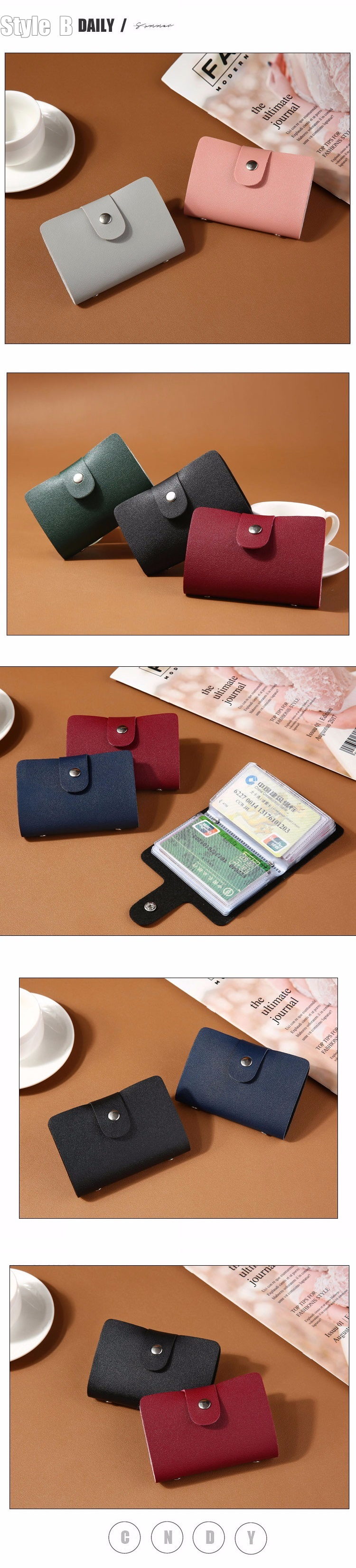 HTB1YP71cG5s3KVjSZFNq6AD3FXag - New PU Leather Function 24 Bits Card Case Business Card Holder Men Women Credit Passport Card Bag ID Passport Card Wallet H088