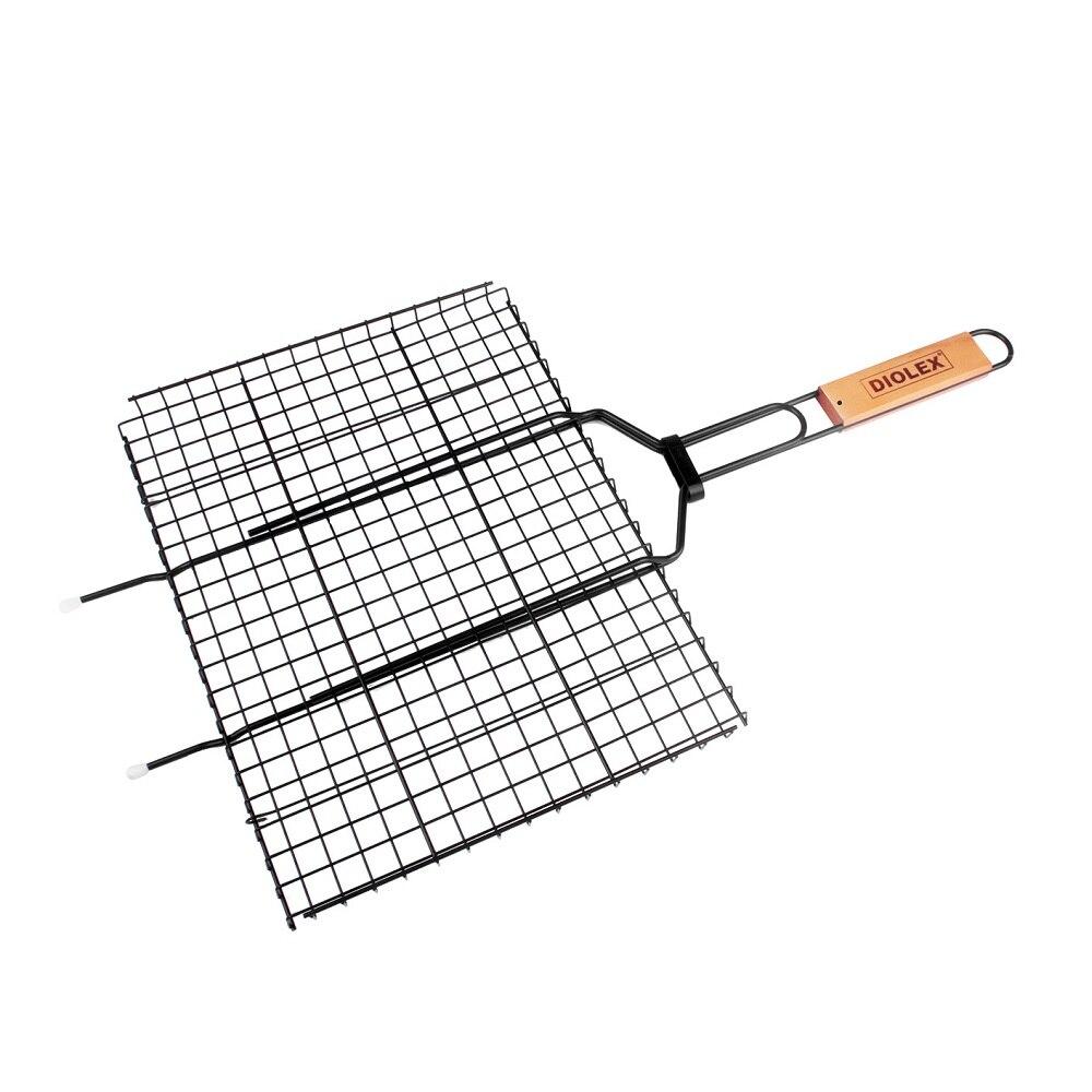 Решетка-гриль DIOLEX, 35*26 см, с антипригарным покрытием решетка гриль forester большая с антипригарным покрытием 26х45 см bq ns02