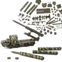 90 stücke Teile 1: 72 boden-zu-luft Raketen Transport Starten Fahrzeug Radar Auto Kunststoff Montieren Military Wagen Modell Spielzeug Auto